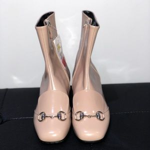 Gucci Leather Horsebit Ankle Boots (NWT)